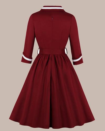 Women's Dress With Fashion Belt