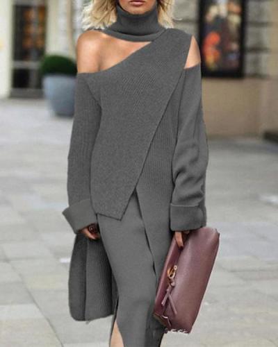 Women Fashion Irregular Strapless Suit