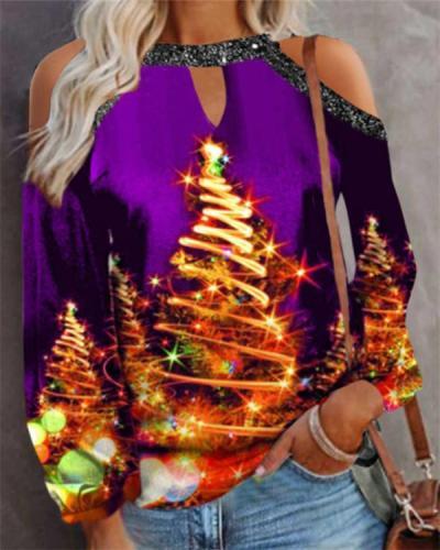 Christmas Hollow Women's T-shirt Top