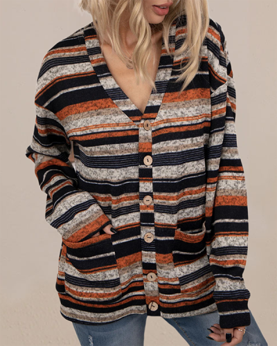 V-neck Knitted Button Sweater Cardigan