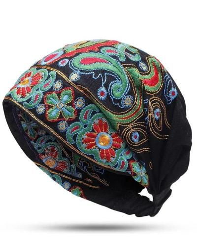 Womens Ethnic Style Embroidered Hats