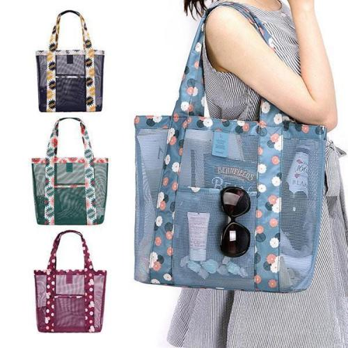Nylon Lightweight Picnic Handbag Storage Bag Shoulder Bag