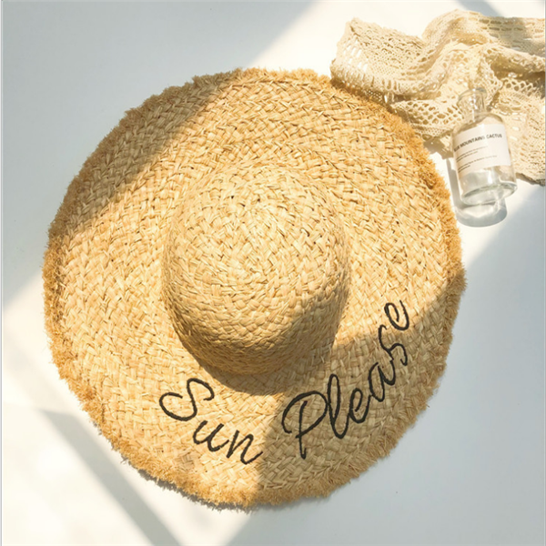 Women's Summer Sun Hat Straw Hat Wide Beach Hat