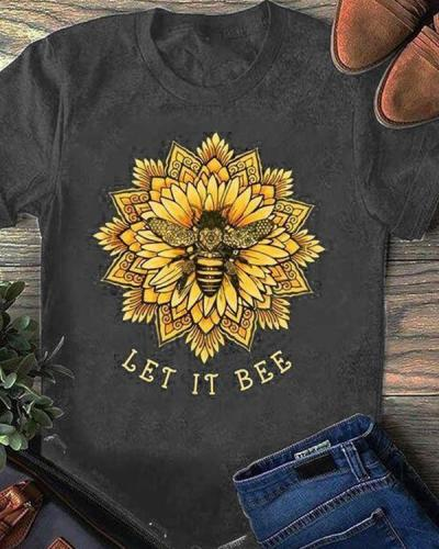 Let It Bee Flower Print Daily Shirt
