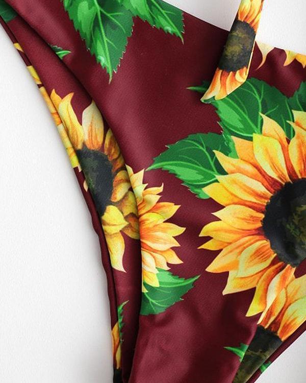 Sunflower Printed Bikini Swimwear