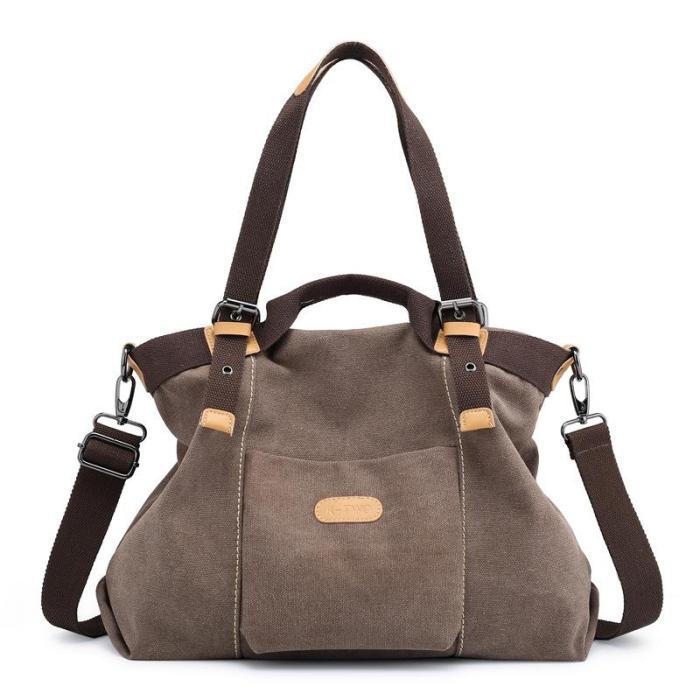 Canvas Women's Handheld Shoulder Bag