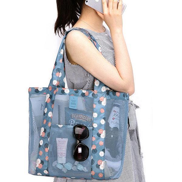Nylon Lightweight Picnic Handbag Storage Bag Shoulder Bag