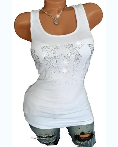 Casual Sexy Solid Colored Crew Neck Cotton Tank Top