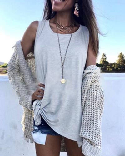 Women Summer Sleeveless Tank  Tops Casual Shirts