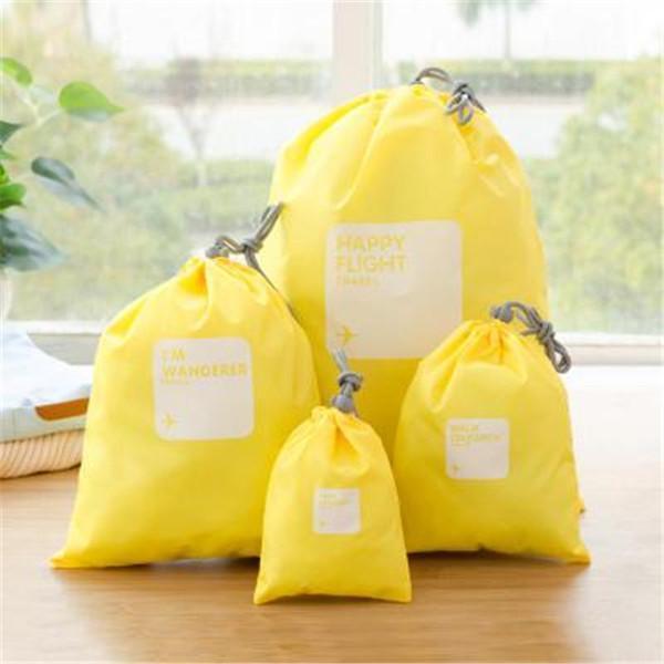 Casual 4 PCS Nylon Waterproof Beam Port Storage Bag Travel Bag
