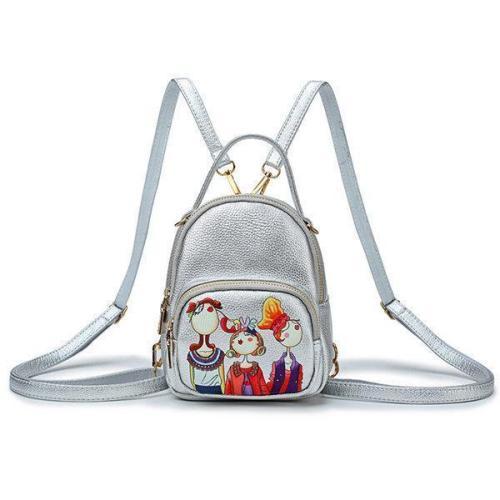 Bohemian Forest Handbag Multi-function Backpack Print Crossbody Bag