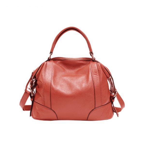 Real Genuine Leather Lady Handbag Cowhide Tote Crossbody Bag