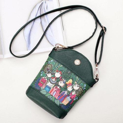 Bohemian Forest Series Bucket Crossbody Bag Print Phone Bag