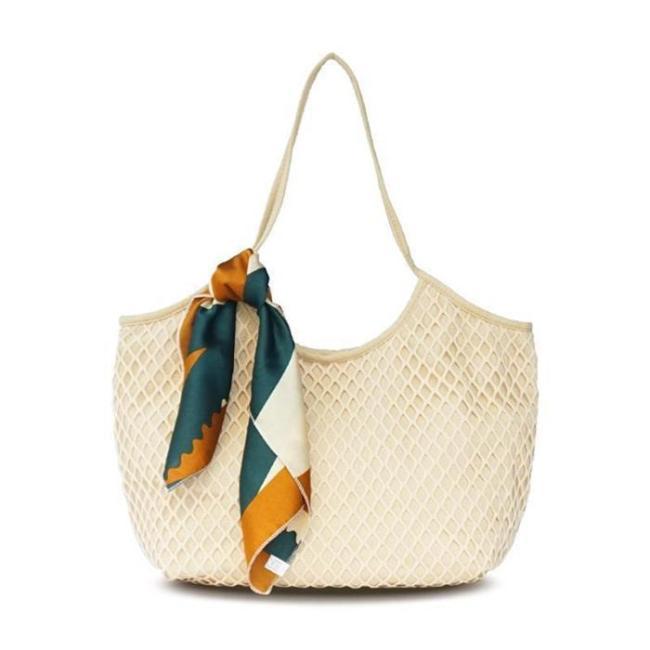 Women's Casual Hallowed Woven  Beach Shoulder Bags