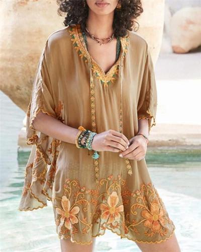 Bohemian Women Holiday Daily Fashion Mini Dresses