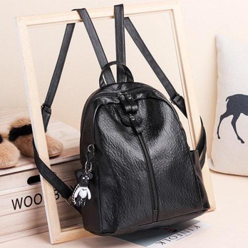 Soft Pu Leather Backpack Travel Large Capacity Shoulder Bag