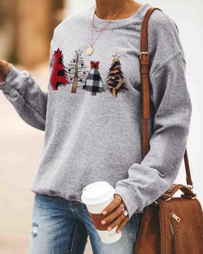 Christmas Trees Plaid Sweatshirt