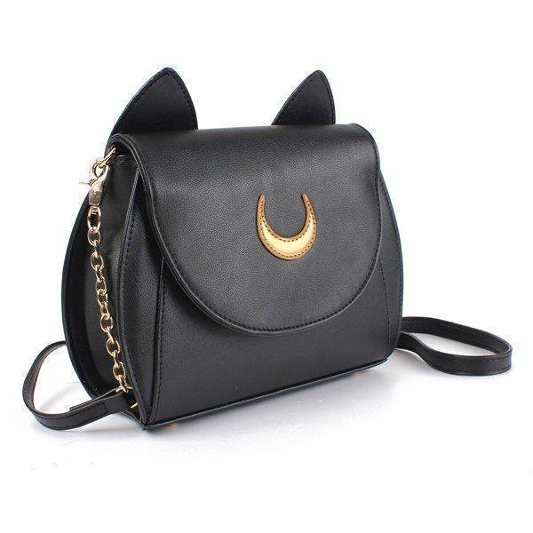 Sweet Moon Print Ear Pattern Design Crossbody Bag Cute Bag