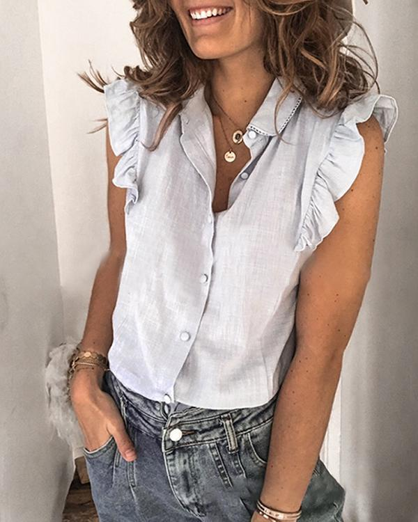 Women Sleeveless Summer Shirt