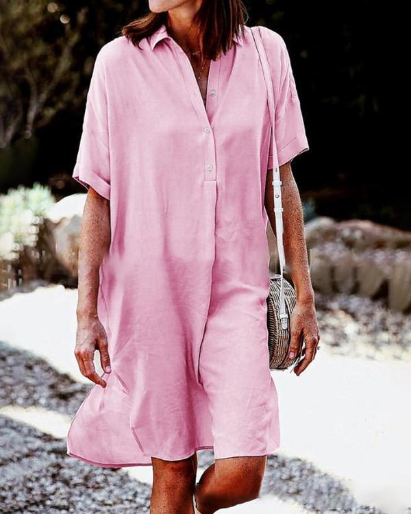 Plus Size Loose  Holiday Dresses  Shift Daytime Mini Dresss Tops