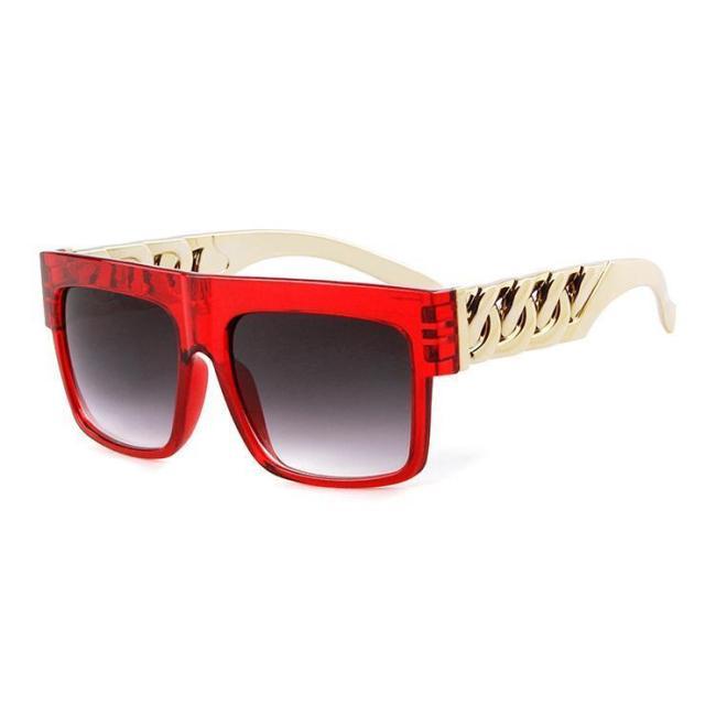 Hip Hop Gold Chain Shape Sunglasses
