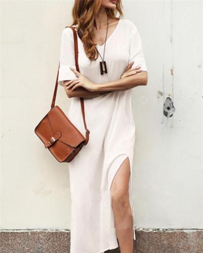 Women Casual Short Sleeve Vacation Dress