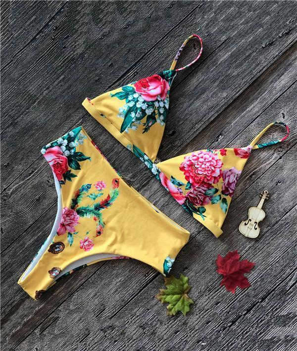 Sexy Snake Printed Bikini Swimwear