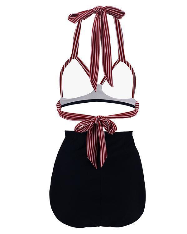 Polka Dot High Waist Swimsuit