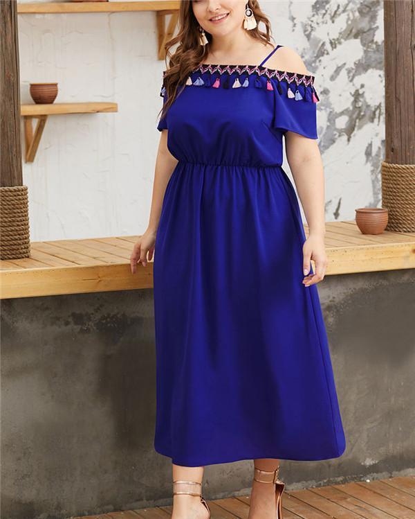 Spaghetti Women Elegant Sexy Evening Maxi Dress