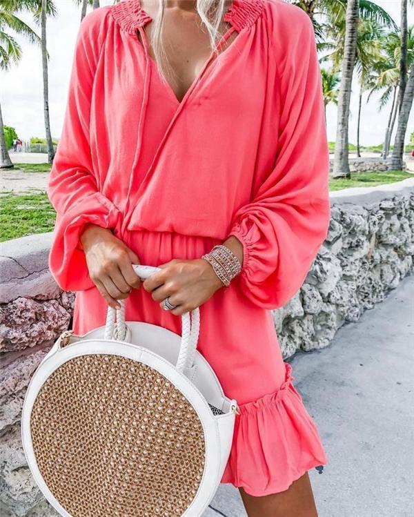 Long Sleeve Solid Fashionable Dresses Shift Daytime Mini Dresses