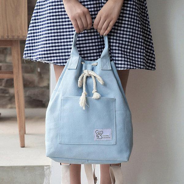 Canvas String Large Capacity Handbag Multifunction Waterproof Backpack