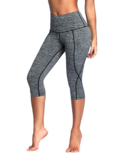 High Waist Out Pocket Yoga Pants Workout Running Leggings