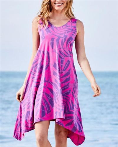 Sleeveless V Neck Elegant Holiday Beach Mini Dresses