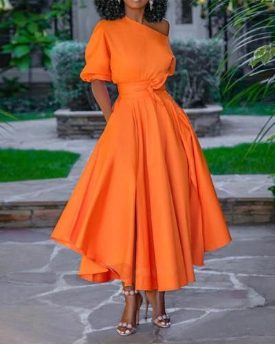 Asymmetric A-line Elegant Maxi Dress