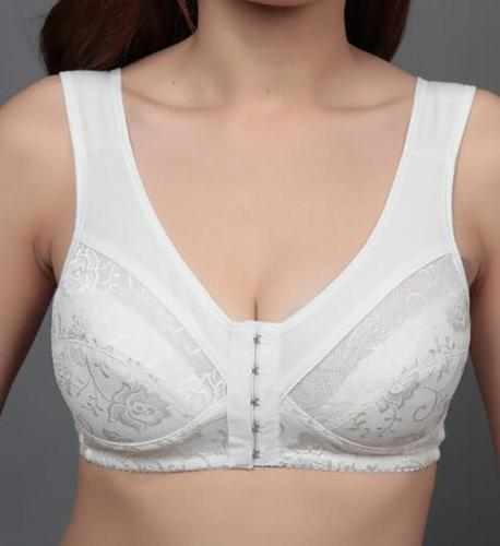 Women Sexy Front Closure Women Bra Comfortable Backless Bra Ladies Breathable Brassiere Plus Size Bras