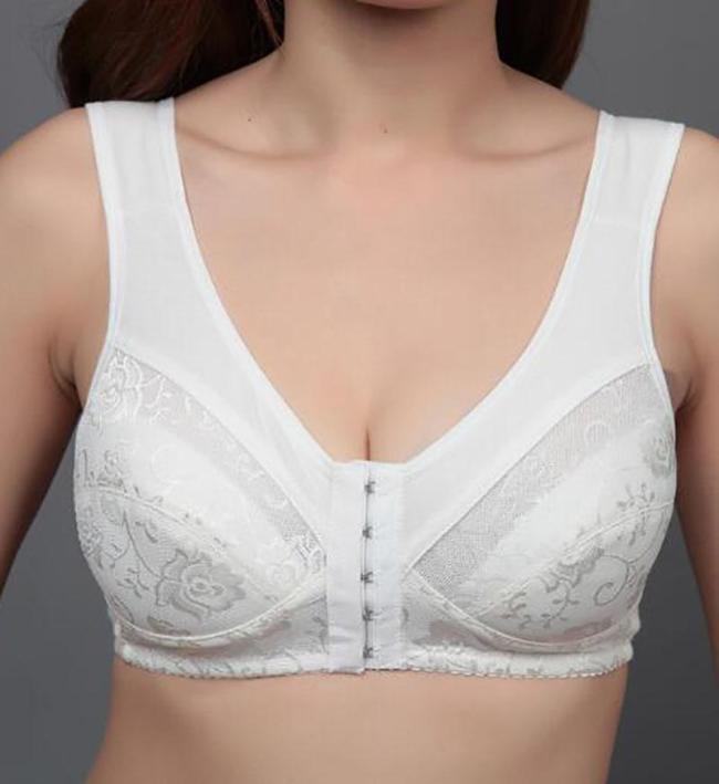 Women Sexy Front Closure Women Bra Comfortable Backless Bra Ladies Breathable Brassiere Plus Size Bras