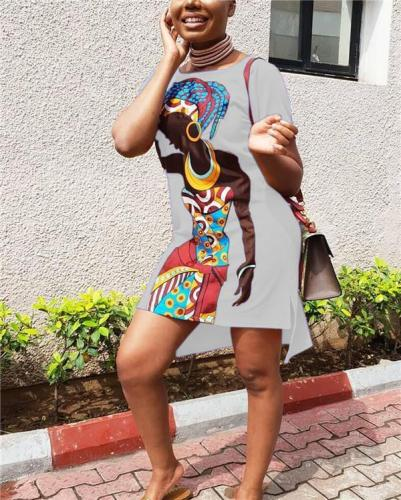 African Dresses Stylish Printed Shirt Dress