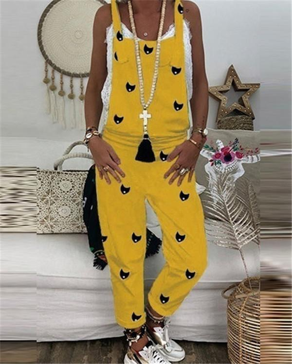 Printed Leisure Loose Casual Summer Jumpsuits