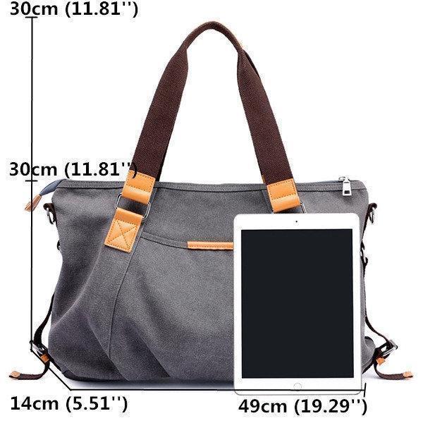Women Canvas Solid Crossbody Bag Leisure Large Capacity Handbag
