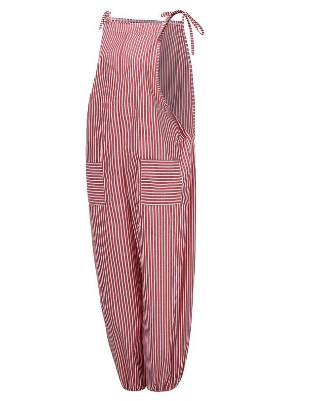 Sleeveless Striped Spaghetti One-Pieces Jumpsuits