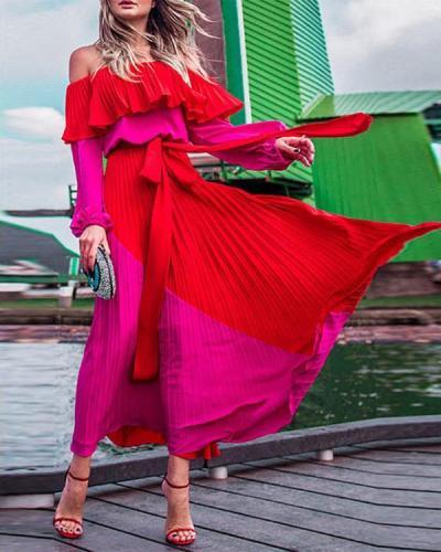 Women Pella Two-tone Maxi Dress