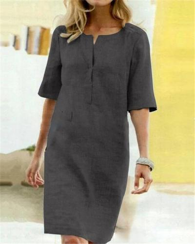 Solid Casual Women Holiday Daily Fashion Mini Dresses