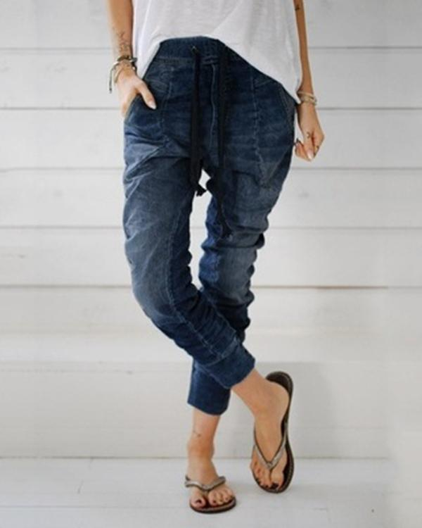 Women's  Vintage Fashion Denim Jeans Pants