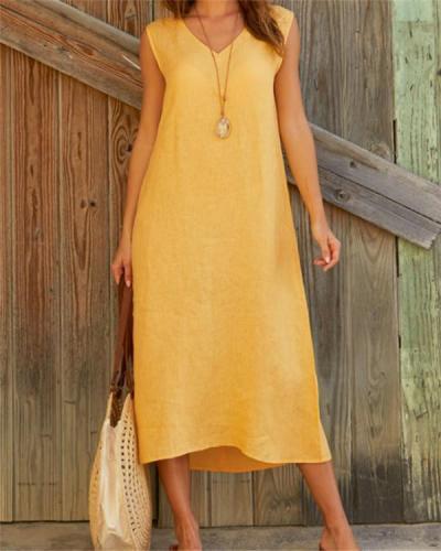 Elegant V Neck Maxi Dress
