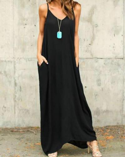 Summer Boho Casual Long Maxi Evening Party Loose Beach Dresses Sundress
