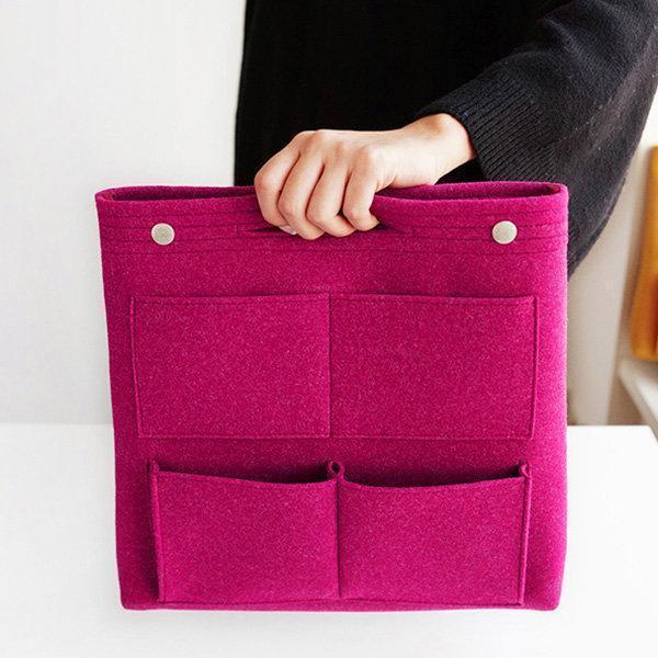 Bag in Bag Felt Casual Travel Multi-pockets Storage Bag Liner Package Cosmetic Bag
