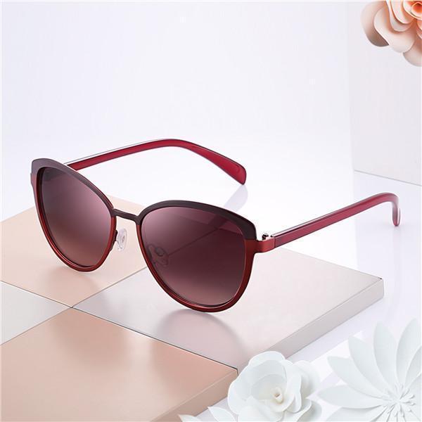 Lady Sunglasses UV400 Protection Oversized Traveling Driving Eyewear With Box