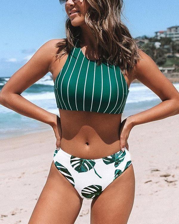 Striped Bikini Swimsuit