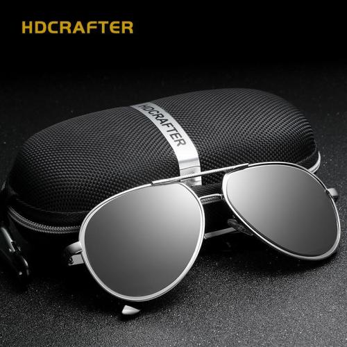 Driving Men's Polarized  Vintage Pilot Sun Glasses With Box