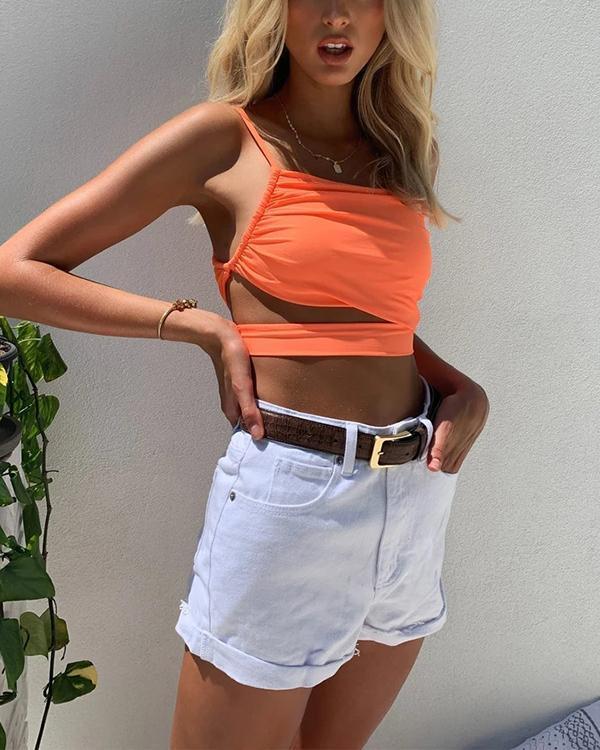 Women's Asymmetric Slim Top Camis